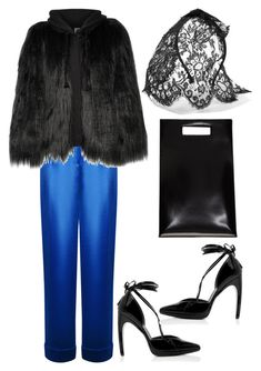"""""""Untitled #2841"""" by moxieremon on Polyvore featuring Rasario, Helmut Lang, House of Fluff and Maison Michel"""