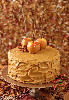 This show-stopping caramel apple cake is packed with layers of fresh apple flavor and creamy caramel buttercream.