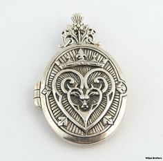 Victorian Scottish Luckenbooth Wedding Locket Sterling Silver Pendant Heart | eBay
