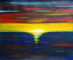 Check out Twilight Sunset a vibrant abstract landscape painting by Manjiri  Kanvinde | Original Art | https://www.vangoart.co/artbymanjiri/twilight-sunset-a-vibrant-abstract-landscape-painting @VangoArt