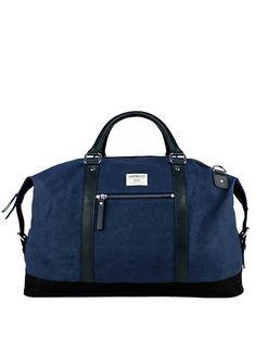 216d54f1ff Blue Weekender Bag Canvas Duffle Bag