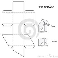 Square Box Template With Lid More