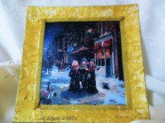 Piatto quadrato natalizio: cori di bimbi