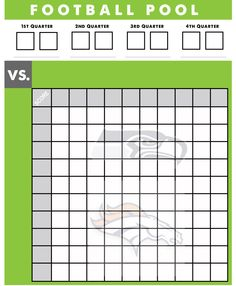 Excel Spreadsheets Help Super Bowl Squares Template