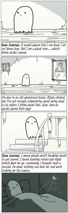 An adorable ghost story for Halloween. Click to see full comic.