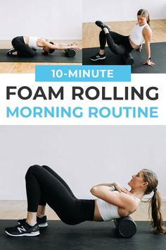 Roller Workout, Gym Workout Tips, Post Workout, Workout Videos, Foam Roller Exercises, Sore Back Exercises, Yoga Muscles, Muscle Roller, Muscle Soreness