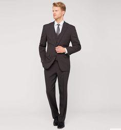 Anzug mit Weste in dunkelgrau