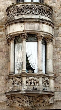 Fancy French apartment window
