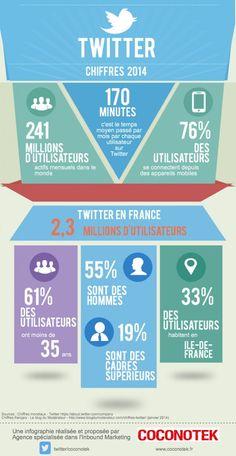 L'utilisateur français type de Twitter en infographie | Agence web 1min30, Inbound marketing et communication digitale 360°