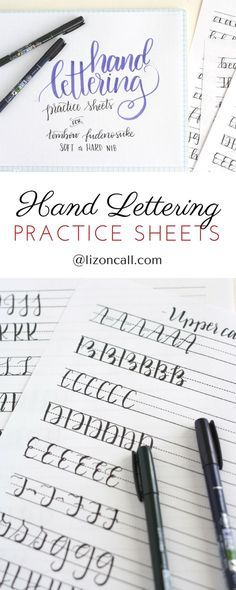 When it comes to hand lettering basics, my best advice is to keep practicing. These free printable hand lettering practice sheets are designed to help you practice the strokes of each letter to build up that muscle memory.