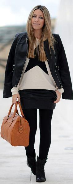 #Leather #Jacket #Outfit by Mes Voyages à Paris