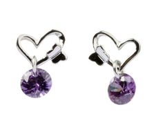 Kiss of Butterfly Purple Cubic Zirconia Ear Stud,925 Sterling Silver, 8mm X 12mm Fashion Every Day,http://www.amazon.com/dp/B00HKO0J5U/ref=cm_sw_r_pi_dp_K22Vsb0T8HSWRENE