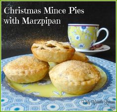 Festive Mince Pies made with added marzipan!  A delicious addition!