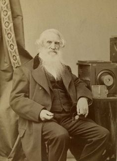 Samuel Morse -- Morse is best known the inventor of the telegraph and Morse code, but he also was a pioneering photographer. France's Louis Daguerre taught Morse his new invention, photography, and Morse sent the first word of Daguerre's historic breakthrough back to America, then pioneered American photography after he returned to New York City. Here he is is photographed with an early camera.