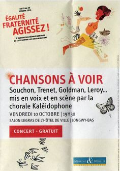 """Concert """"Chansons à voir"""". Salon Legras de l'hôtel à Longwy-bas. Conseil Général Meurthe et Moselle."""