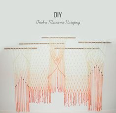 Weddbook is a content discovery engine mostly specialized on wedding concept. You can collect images, videos or articles you discovered organize them, add your own ideas to your collections and share with other people | DIY: Ombre Macrame Hanging