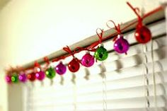 Holiday idea! - Old ornaments and some ribbon!  -- I am so doing this one!