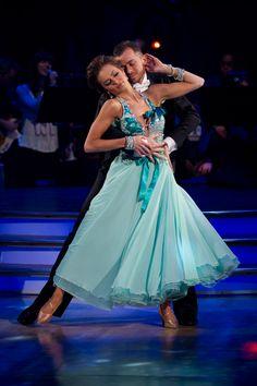 strictly come dancing dresses - Kara Tointon and Artem Chigvintsev