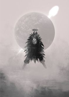 """Beautiful """"DBZ God"""" metal poster created by Raymond Diaz. Our Displate metal prints will make your walls awesome. Moon Silhouette, Metal Posters, Metal Prints, Poster Artwork, Anime Dragon Ball, Dbz, Artwork, Piet, Prints"""