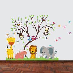Good Walplus x cm Wand Aufkleber Monkey Animal Forest Tree Abnehmbare Wandbild Kunst Abziehbilder Vinyl