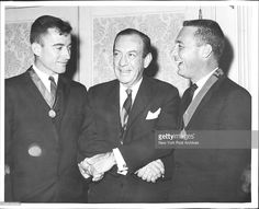 John Young, Mayor Wagner & Gus Grissom after getting medals. Gus Grissom, Space Astronauts, Project Gemini, Project Mercury, Space Cowboys, Risky Business, Vintage Space, Space Race, Man On The Moon