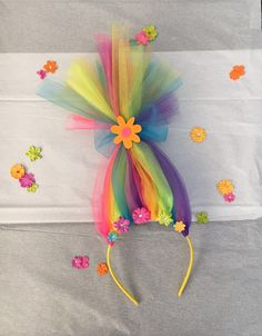 A personal favorite from my Etsy shop https://www.etsy.com/listing/504701859/rainbow-troll-headband
