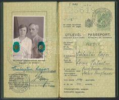 Műtárgy.com   antik, kortárs, régiség   1937 Bp., A Magyar Királyság által kiállított fényképes útlevél házaspár részére / Hungarian passport