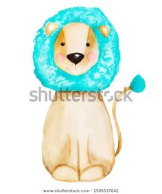 Стоковая иллюстрация «Cute Handdrawn Watercolor Smiling Lion Childrens», 1505537042 Tweety, How To Draw Hands, Lion, Watercolor, Illustration, Outdoor Decor, Cute, Character, Image