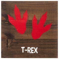 T-Rex Tracks Wood Pallet Wall Decor
