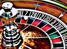 Roulette Wheel Wall Art Casino Room Decor by josiejamesdesign