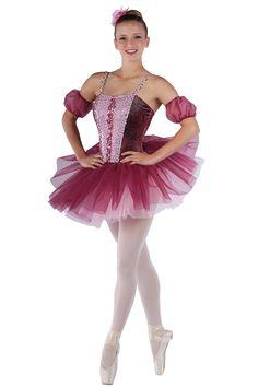 15428 sweet romance ballet pointe dance costumes dansco 2015 burgundy tie - Ballet Halloween Costume