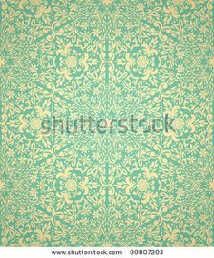 Seamless pattern with gradient background by hoverfly, via ShutterStock