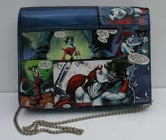 Comic Book Purse Harley Quinn and Joker Purse Handbag Accessory