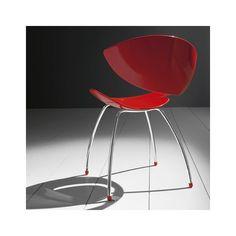 Chaise design en métal et hirek - Twist Midj® - 4 Pieds : tables, chaises et tabourets