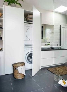 How to make a laundry-bathroom combo work