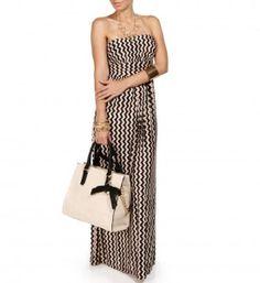 vertical chevron dress