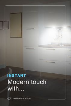 Give your kitchen an instant premium touch thanks to Puck lights! 🔥 These LED puck lights can be installed using two different methods and are able to be fixed with screws or sturdy double-sided stickers, installing these lights is simple and quick 💯