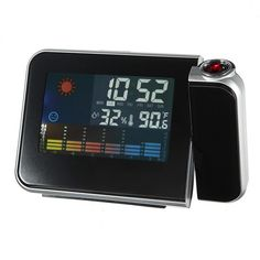 Digital LCD Projection Clocks Alarm Calendar Weather Forecast Station Humidity