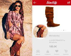 Alessandra Ambrosio, una de las it Girls mundiales por excelencia, nos muestra su lado más sexy & folck con este look!  #similify #smartvisualshopper #visualshopping #visualsearch #fashionsearch #fashiontech