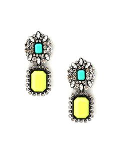 neon drop earrings <3 <3