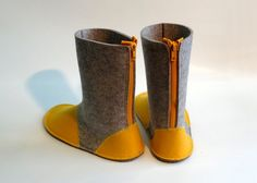 Felt Boots CreateYourself by meiseberlin on Etsy