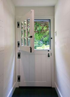 Dutch Door to replace the front door.