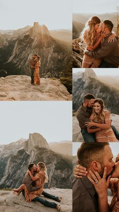Glacier Point Sunrise Engagement Session at Yosemite National Park - Carrie Rogers Photography -