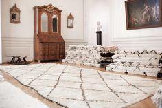 7021 - Moroccan Rug - Beni Ourain Tribal Rug - Shag Pile - Natural Wool - 170 X 310cm