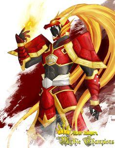 Power Rangers:Mythic Champions Red Tortoise Dragon by the-newKid.deviantart.com on @deviantART