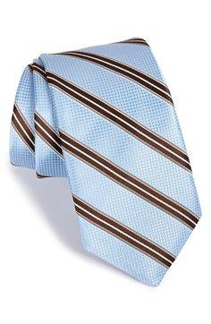 Men's Ike Behar 'Pastel Stripe' Silk Tie