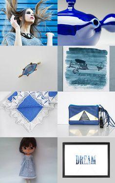 Blue day by Agne Ramonaite-Bockiene on Etsy--Pinned with TreasuryPin.com