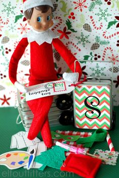 Elf on the Shelf has a suitcase.... Props - Where to Find Them