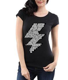 Harry Potter Lightning Bolt Black and White T Shirt for Women