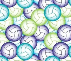 Multi Colored Volley Ball Fleece Fabric By by ReneesChoiceFabrics, $10.00